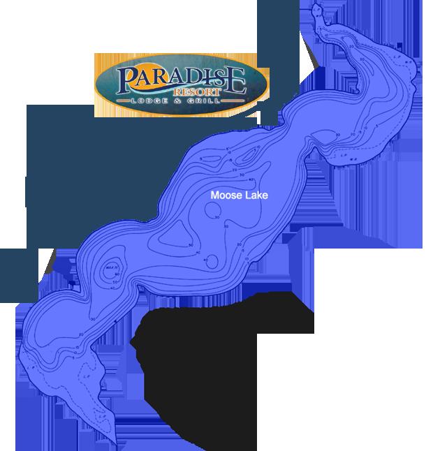 Bemidji Minnesota Map.Moose Lake Large Lake Map At Paradise Resort